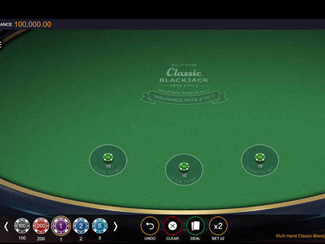 Play 'Classic Blackjack' for Free and Practice Your Skills!