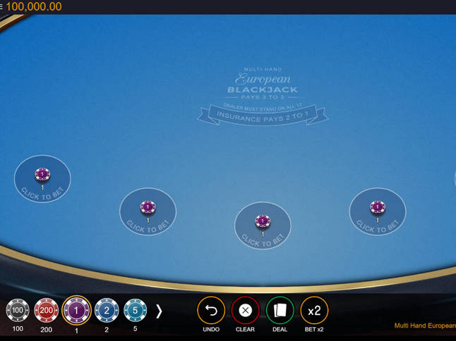 Play 'Switch MultiHand European Blackjack' for Free and Practice Your Skills!
